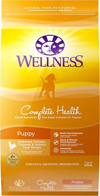 Wellness Complete Health Puppy Chicken, Oatmeal & Salmon Dry Dog Food, 30-lb