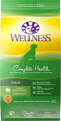 Wellness Complete Health Adult Lamb & Barley Dry Dog Food, 30-lb