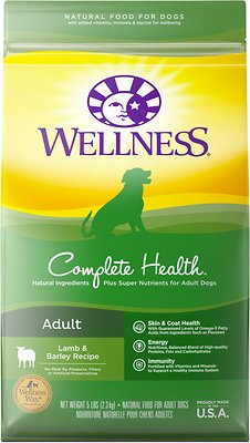 Wellness Complete Health Adult Lamb & Barley Recipe Dry Dog Food, 5-lb bag