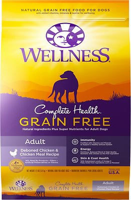 Wellness Complete Health Grain-Free Adult Chicken Dry Dog Food, 12-lb