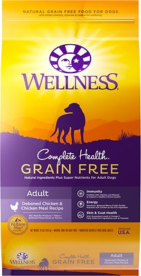 Wellness Complete Health Grain-Free Adult Chicken Dry Dog Food, 24-lb
