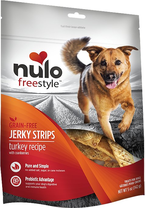 Nulo Dog Freestyle Grain-Free Turkey Recipe With Cranberries Jerky Dog Treats, 5-oz bag