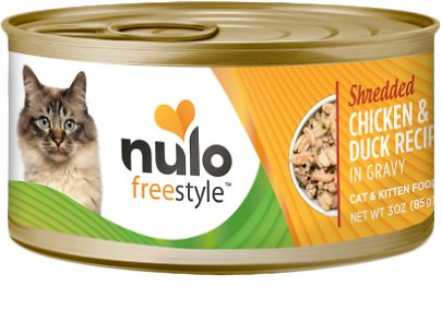 Nulo Cat Freestyle Shredded Chicken & Duck in Gravy Grain-Free Canned Cat Food Image
