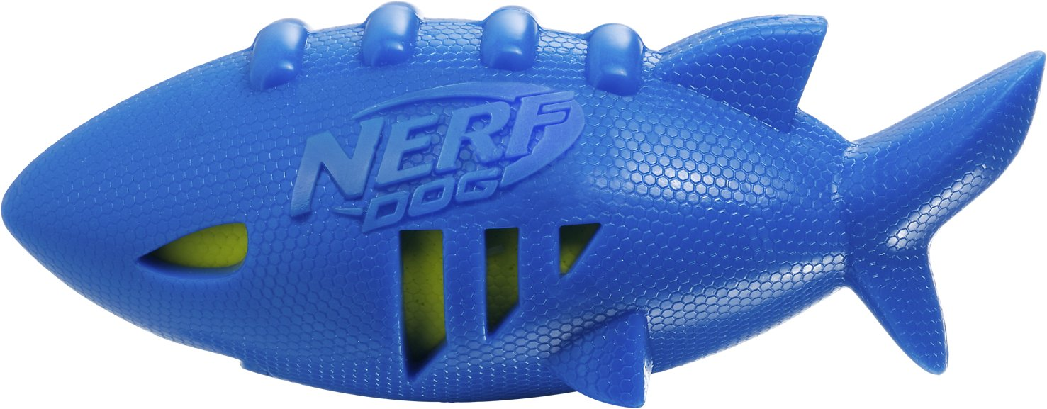 Nerf Dog Super Soaker Squeak Shark Dog Toy