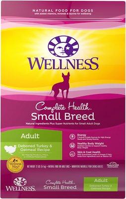 Wellness Complete Health Small Breed Adult Turkey & Oatmeal Dry Dog Food, 12-lb