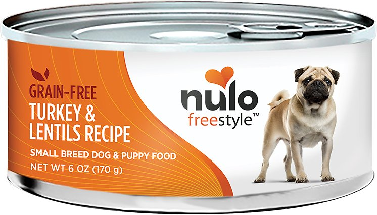 Nulo Dog Freestyle Pate Turkey & Lentils Recipe Grain-Free Small Breed & Puppy Canned Dog Food, 6-oz