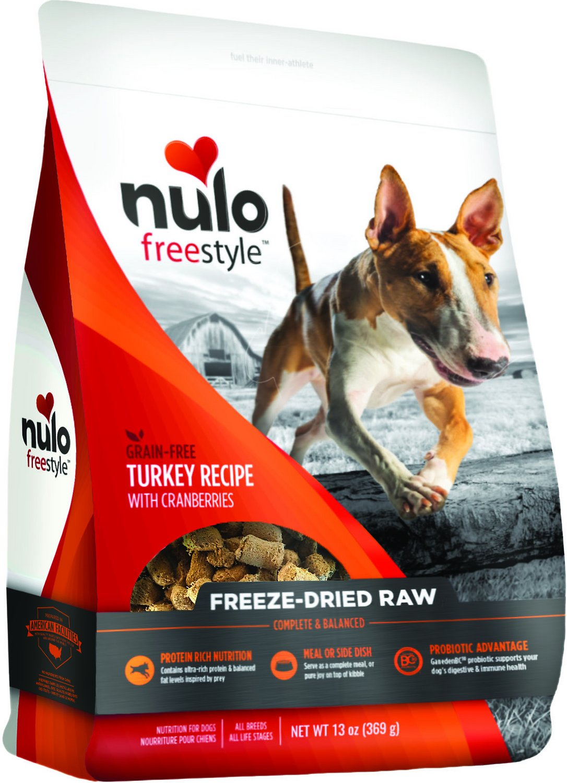Nulo Dog Freestyle Grain-Free Turkey Recipe With Cranberries Freeze-Dried Raw Dog Food Image