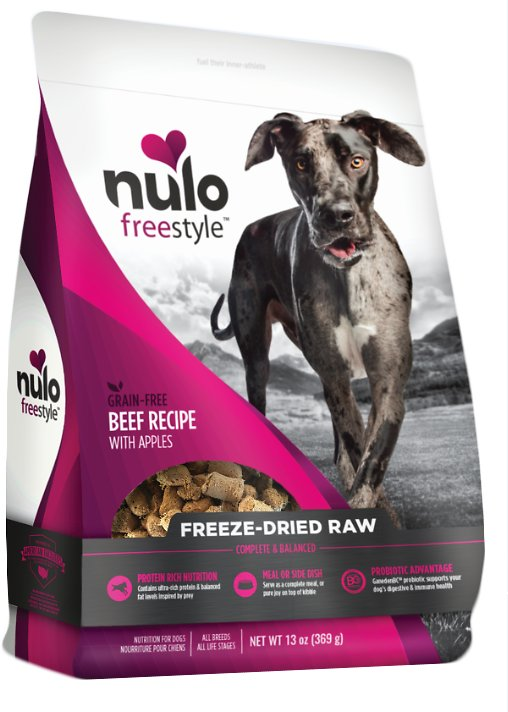 Nulo Dog Freestyle Grain-Free Beef Recipe With Apples Freeze-Dried Raw Dog Food Image