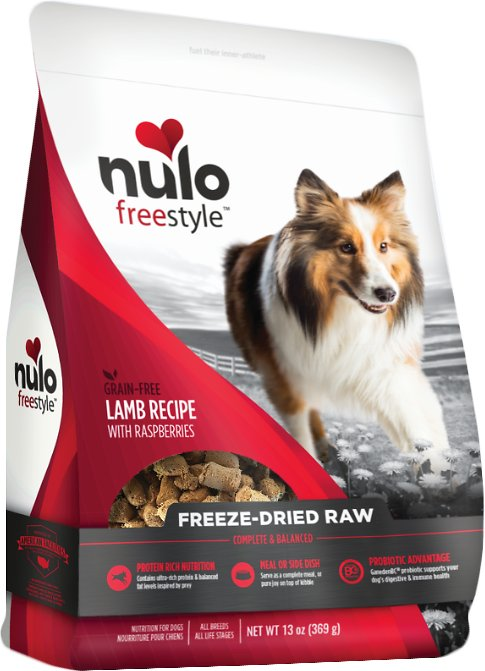 Nulo Dog Freestyle Grain-Free Lamb Recipe With Raspberries Freeze-Dried Raw Dog Food Image