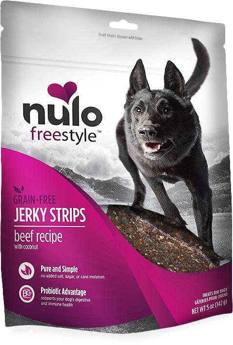Nulo Dog Freestyle Grain-Free Beef Recipe With Coconut Jerky Dog Treats, 5-oz bag