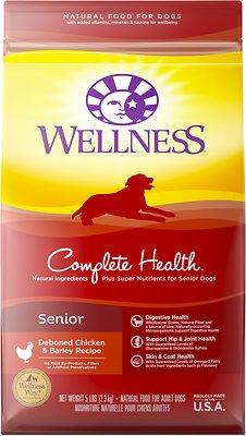 Wellness Complete Health Senior Deboned Chicken & Barley Recipe Dry Dog Food, 5-lb