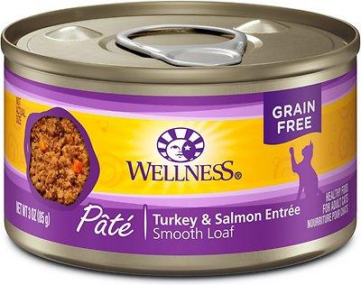 Wellness Complete Health Pate Turkey & Salmon Formula Grain-Free Canned Cat Food, 3-oz