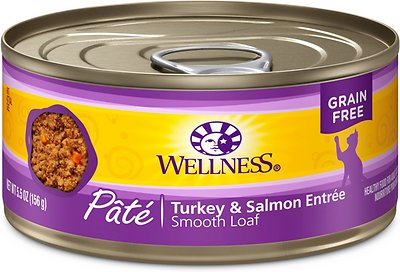Wellness Complete Health Turkey & Salmon Formula Grain-Free Canned Cat Food, 5.5-oz