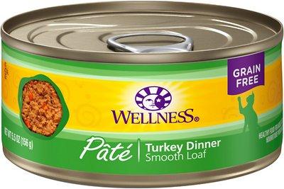 Wellness Complete Health Pate Turkey Formula Grain-Free Canned Cat Food, 5.5-oz