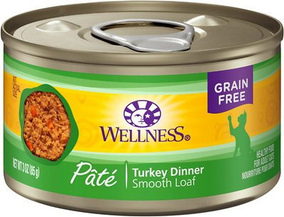 Wellness Complete Health Turkey Formula Grain-Free Canned Cat Food, 3-oz