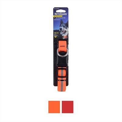 Nite Ize Nite Dawg LED Dog Collar, Orange, Medium