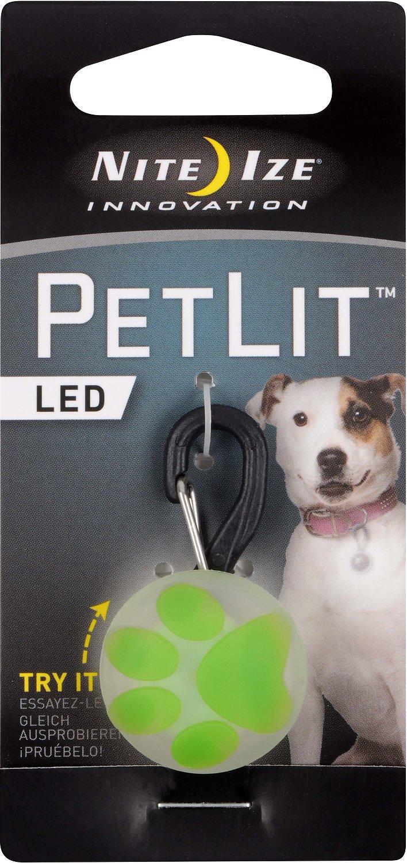 Nite Ize PetLit LED Collar Light, Lime Paw