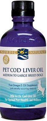 Nordic Naturals Pet Cod Liver Oil Dog Supplement, 8-oz