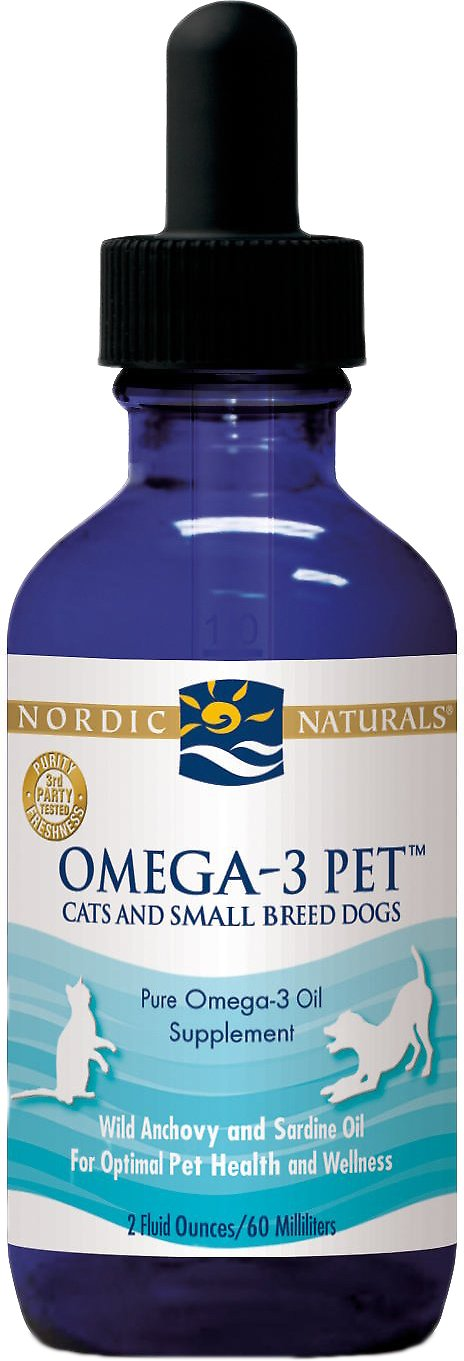 Nordic Naturals Omega-3 Pet Cats & Small Breed Dog & Cat Supplement, 2-oz bottle