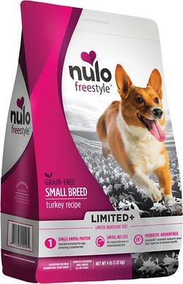 Nulo Dog Freestyle Limited+ Turkey Recipe Grain-Free Small Breed Adult Dry Dog Food, 4-lb bag