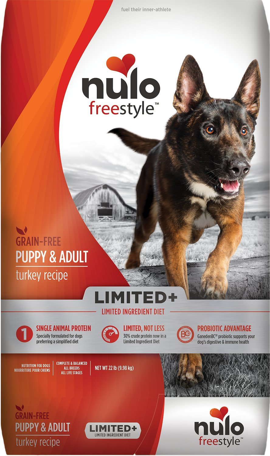 Nulo Dog Freestyle Limited+ Turkey Recipe Grain-Free Puppy & Adult Dry Dog Food Image