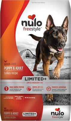 Nulo Dog Freestyle Limited+ Turkey Recipe Grain-Free Puppy & Adult Dry Dog Food, 22-lb bag