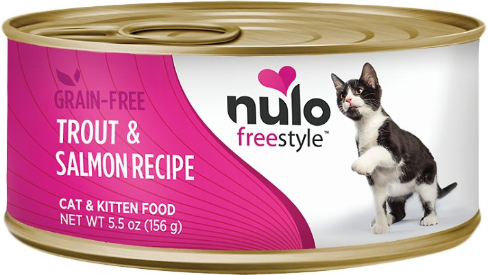 Nulo Cat Freestyle Pate Trout & Salmon Recipe Grain-Free Canned Cat & Kitten Food, 5.5-oz