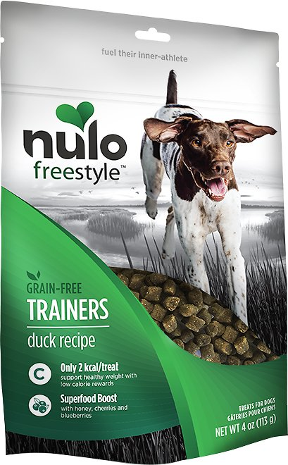 Nulo Dog Freestyle Grain-Free Duck Recipe Dog Training Treats, 4-oz bag