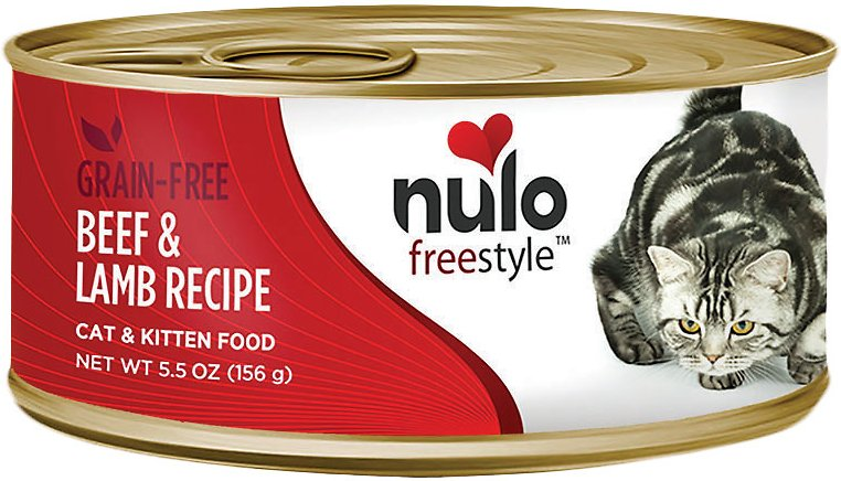 Nulo Cat Freestyle Pate Beef & Lamb Recipe Grain-Free Canned Cat & Kitten Food, 5.5-oz
