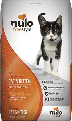 Nulo Cat FreeStyle Turkey & Duck Recipe Grain-Free Dry Cat & Kitten Food, 12-lb bag
