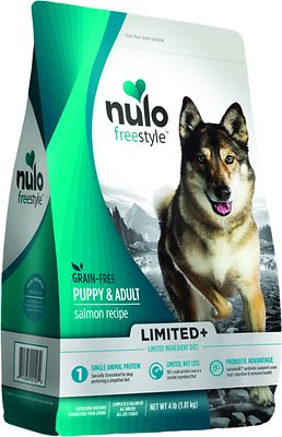 Nulo Dog Freestyle Limited+ Salmon Recipe Grain-Free Puppy & Adult Dry Dog Food, 4-lb bag