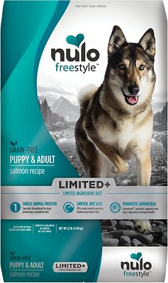 Nulo Dog Freestyle Limited+ Salmon Recipe Grain-Free Puppy & Adult Dry Dog Food, 22-lb bag