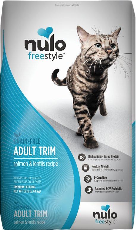 Nulo Cat Freestyle Salmon & Lentils Recipe Grain-Free Adult Trim Dry Cat Food, 2-lb