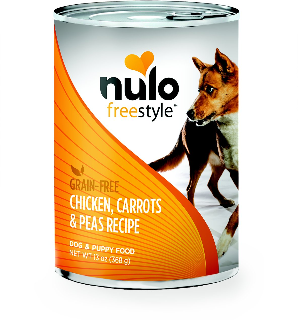 Nulo Dog Freestyle Pate Chicken, Carrots & Peas Recipe Grain-Free Canned Dog Food, 13-oz