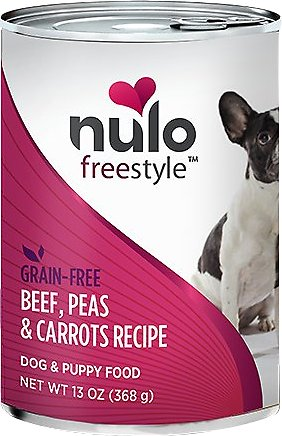 Nulo Dog Freestyle Pate Beef, Peas & Carrot Recipe Grain-Free Canned Dog Food, 13-oz