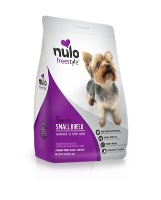 Nulo Dog FreeStyle Small Breed Salmon & Red Lentils Recipe Grain-Free Dry Dog Food, 4.5-lb bag