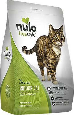 Nulo Cat Freestyle Duck & Lentils Grain-Free Indoor Dry Cat Food, 12-lb bag