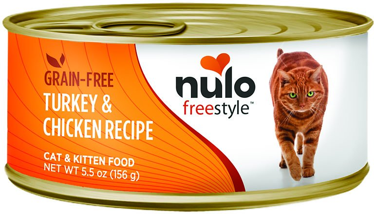 Nulo Cat Freestyle Pate Turkey & Chicken Recipe Grain-Free Canned Cat & Kitten Food, 5.5-oz
