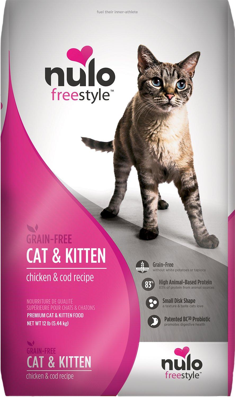 Nulo Cat Freestyle Chicken & Cod Recipe Grain-Free Dry Cat & Kitten Food, 2-lb
