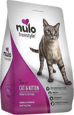 Nulo Cat Freestyle Chicken & Cod Recipe Grain-Free Dry Cat & Kitten Food, 5-lb bag