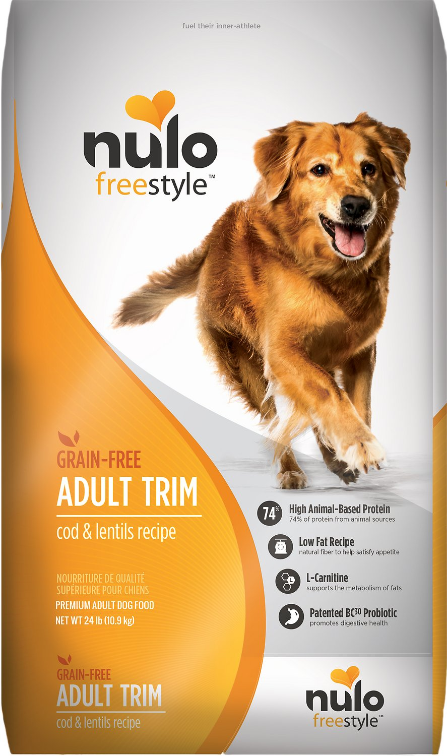 Nulo Dog Freestyle Cod & Lentils Recipe Grain-Free Adult Trim Dry Dog Food Image