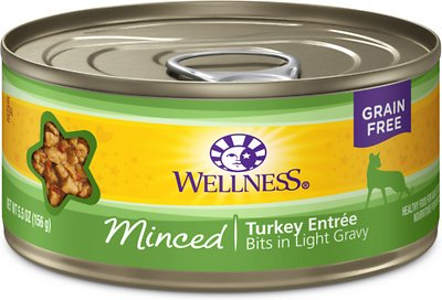 Wellness Complete Health Minced Turkey Entree Canned Cat Food, 5.5-oz, case of 24
