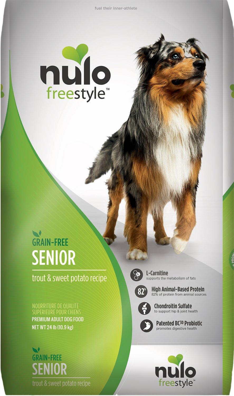 Nulo Dog Freestyle Trout & Sweet Potato Recipe Grain-Free Senior Dry Dog Food Image