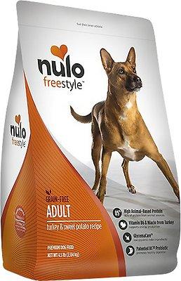 Nulo Dog Freestyle Turkey & Sweet Potato Recipe Grain-Free Adult Dry Dog Food, 4.5-lb bag