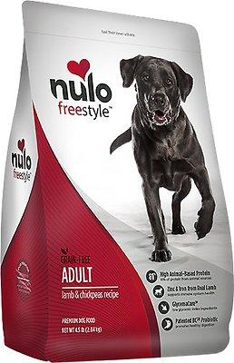 Nulo Dog Freestyle Lamb & Chickpeas Recipe Grain-Free Adult Dry Dog Food, 4.5-lb bag
