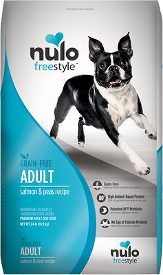 Nulo Dog Freestyle Salmon & Peas Recipe Grain-Free Adult Dry Dog Food, 24-lb bag