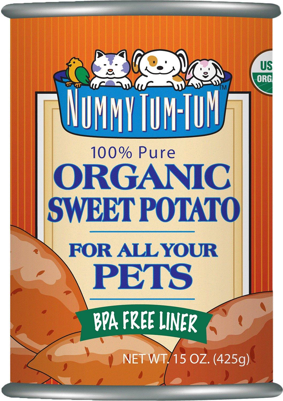 Nummy Tum-Tum Pure Organic Sweet Potato Canned Dog & Cat Food Supplement, 15-oz, case of 12