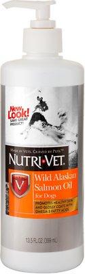 Nutri-Vet Wild Alaskan Salmon Oil Dog Supplement, 13.5-oz bottle