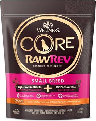 Wellness CORE RawRev Original with Freeze Dried Turkey Small Breed Dry Dog Food, 4-lb