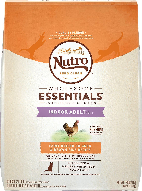 Nutro Wholesome Essentials Indoor Adult Farm-Raised Chicken & Brown Rice Recipe Dry Cat Food Image